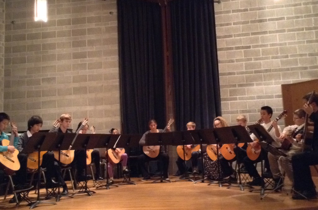 My students together for an ensemble!